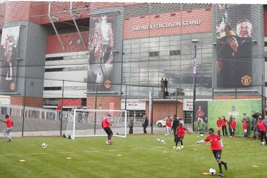 Coaching at Manchester United Football Club © Manchester United Football