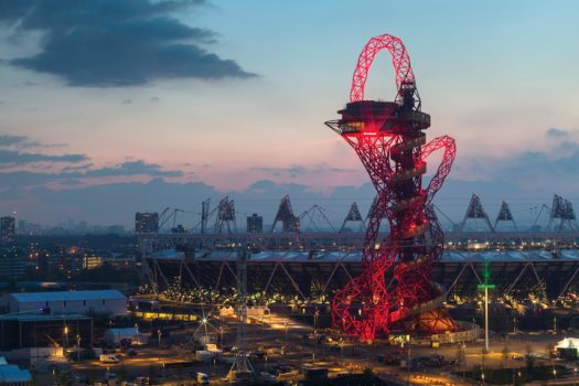 ArcelorMittal Orbit lights up East London