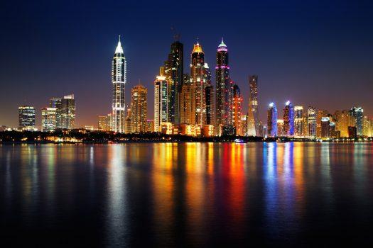 Dubai at night, United Arab Emirates