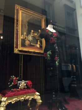 Dolce and Gabbana, Via Monte Napoleone Fashion , Milan, Italy