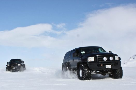 Jeep tour on a glacier, Iceland © HL Adventure