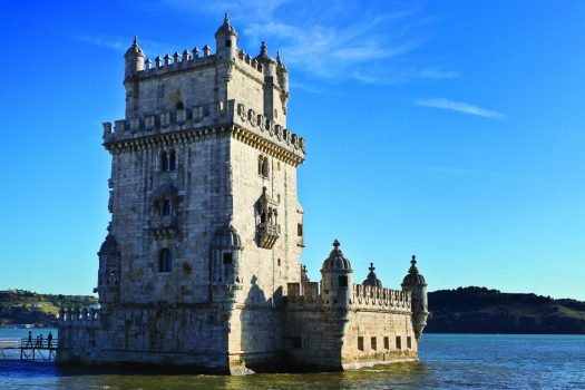 A scenic image of Belem tower in Lison, Portugal