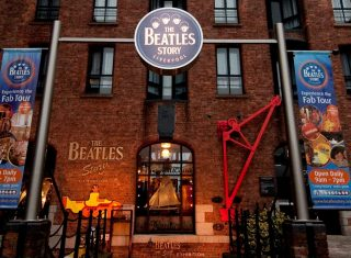 The Beatles story entrance from a low camera shot, Liverpool