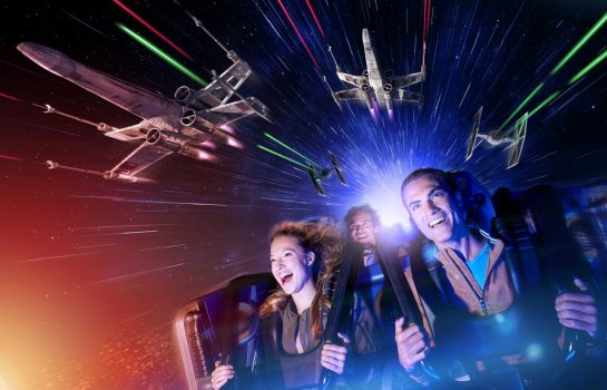 Futuristic Night - Star Wars™ Hyperspace Mountain ©Disney